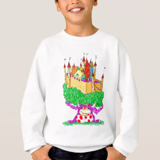 A troll and a castle sweatshirt