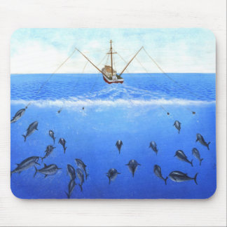 A Trolling Boat Mouse Pad