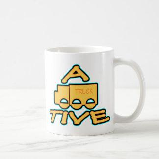 A TRUCK TIVE funny attractive logo Coffee Mug
