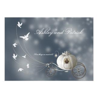 A True Fairy Tale Wedding Custom Invites