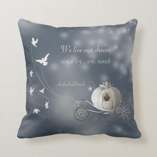 A True Fairy Tale Wedding Favour Throw Pillow
