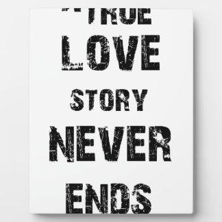 a true love story never ends plaque