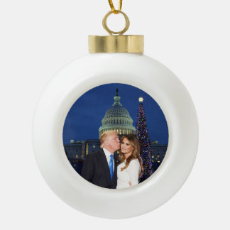A Trump Christmas: Donald and Melania Ceramic Ball Christmas Ornament