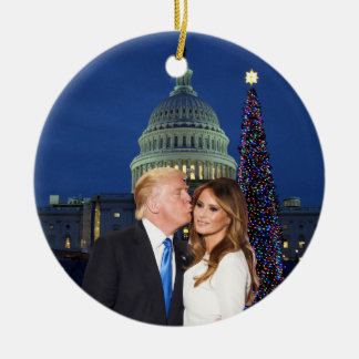 A Trump Christmas: Donald and Melania Ceramic Ornament