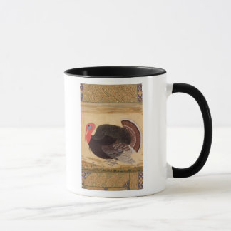 A turkey-cock, brought to Jahangir Mug