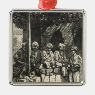 A Turkish Coffee-house Silver-Colored Square Ornament