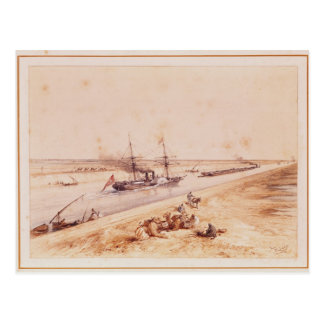 A Turkish Paddle Steamer Going Up the Suez Canal Postcard