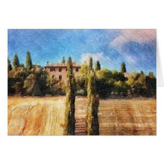 A Tuscan Hillside Card