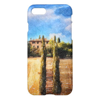 A Tuscan Hillside iPhone 7 Case
