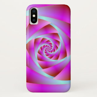 A Twist of Blue and Pink iPhone X Case