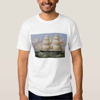 A Two Masted Schooner off Dover (oil on canvas) Shirt