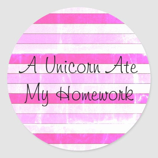 A Unicorn Ate My Homework Stickers