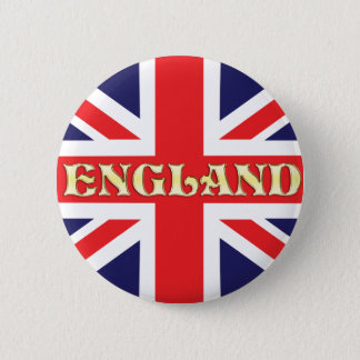 A Union Jack flag with England written on it 2 Inch Round Button
