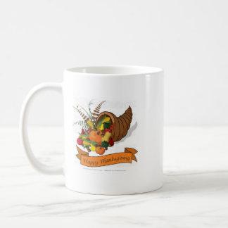 A unique coffe mug with a Thanksgiving theme