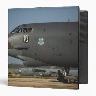 A US Air Force aircrew prepares a B-52 Binder