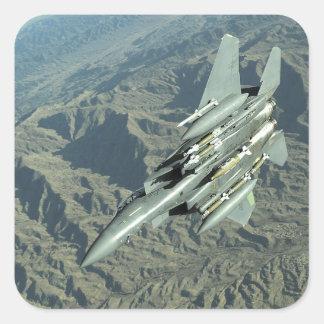 A US Air Force  F-15E Strike Eagle Square Sticker