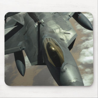 A US Air Force F-22 Raptor is refueled by a KC- Mouse Pad