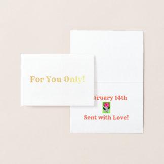 A Valentine Foil Card