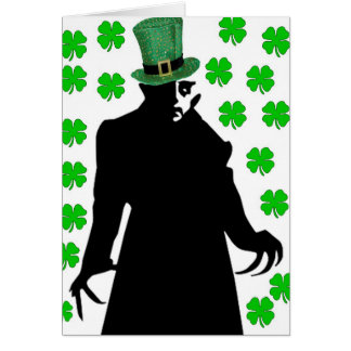 A Vampire on St. Patrick's Day Card
