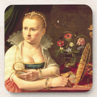 A vanitas portrait of a lady believed to be Clara Coaster