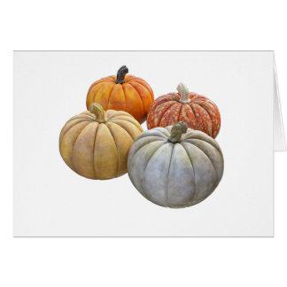A Variety of Pumpkins Card