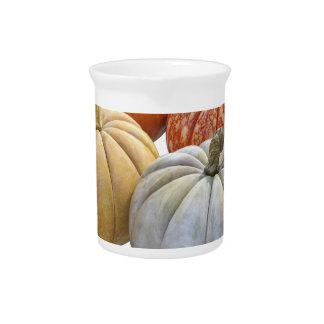 A Variety of Pumpkins Pitcher