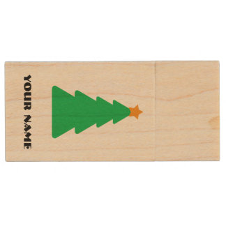 A Very Christmas USB Wood USB Flash Drive
