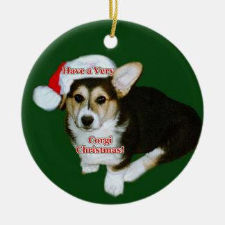 A Very Corgi Christmas Gimli Pup Ornament