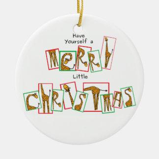 A Very Giraffe Christmas - Letters Ceramic Ornament