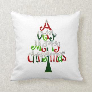 A Very Happy Christmas Tree Cushion Pillows