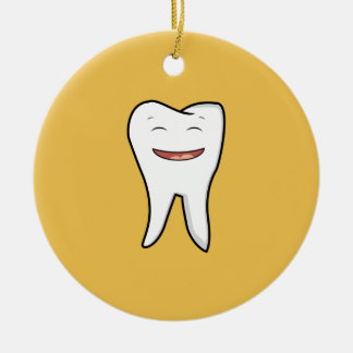A Very Happy Tooth Ceramic Ornament