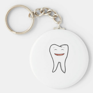 A Very Happy Tooth Keychain