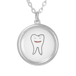 A Very Happy Tooth Silver Plated Necklace