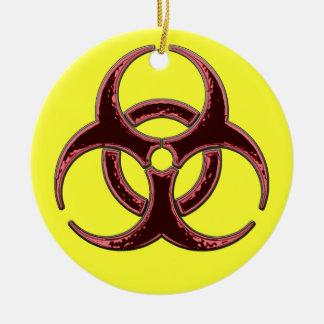 A Very Merry Biohazard Christmas Ceramic Ornament