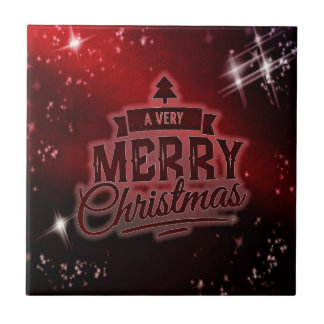 A Very Merry Christmas Ceramic Tile