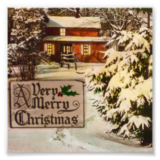 A Very Merry Christmas Classic Traditional Winter Photo Art