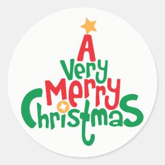 A Very Merry Christmas Festive Sticker
