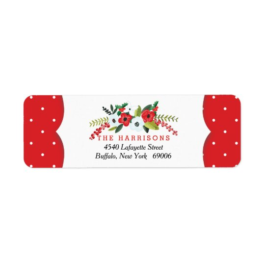 A Very Merry Christmas Floral Personalized