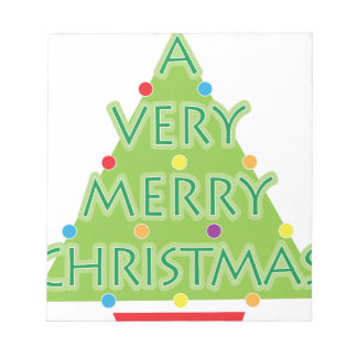 a very merry christmas notepad
