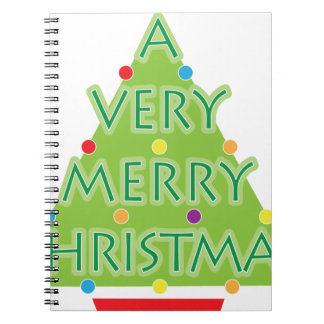 a very merry christmas spiral note book