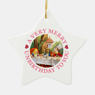 A Very Merry Unbirthday To You! Ceramic Ornament