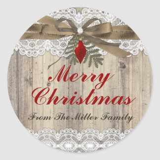 A Very Merry Vintage Christmas Holiday Sticker
