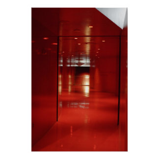 A Very Red Hallway Poster
