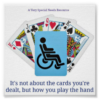 A Very Special Needs Resource Deck of Cards Poster