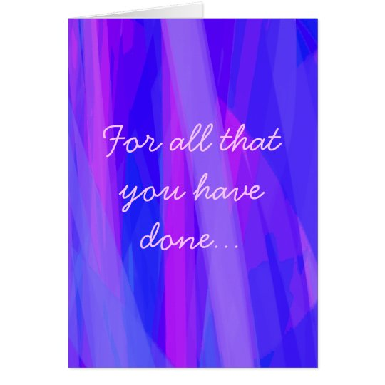 A very special Thank You Card
