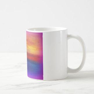 A vibrant colorful abstract contemporary design basic white mug