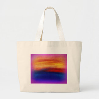 A vibrant colorful abstract contemporary design jumbo tote bag