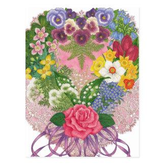A Victorian Nosegay Valentine Postcard