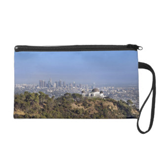 A view from a hiking trail in Griffith Park Wristlet Purse