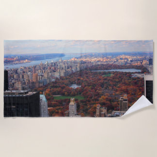 A view from above: Autumn in Central Park 01 Beach Towel